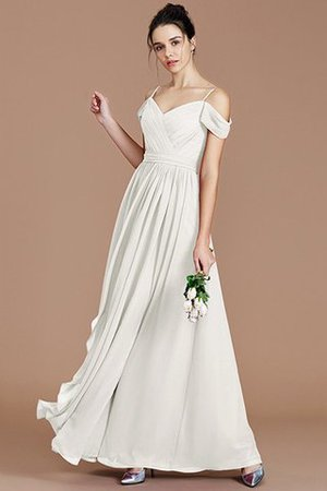 Chiffon Floor Length A-Line Ruched Bridesmaid Dress - 22