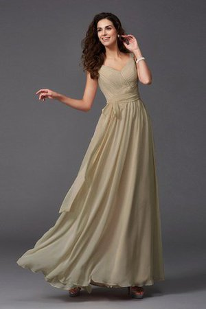 Sashes Floor Length Spaghetti Straps A-Line Bridesmaid Dress - 5