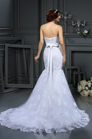 Long Strapless Lace Sleeveless Natural Waist Wedding Dress - 2