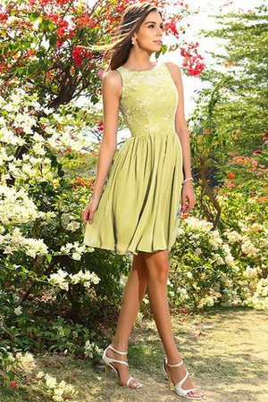 A-Line Natural Waist Sleeveless Chiffon Short Bridesmaid Dress - 8