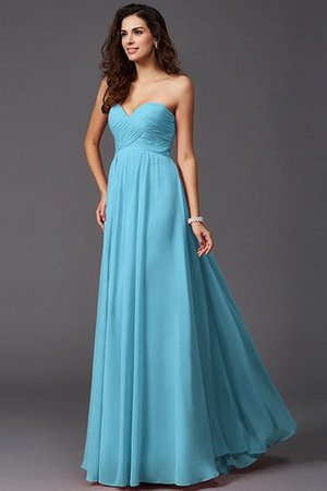 A-Line Sleeveless Chiffon Empire Waist Bridesmaid Dress - 4