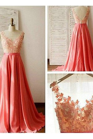 Chiffon A-Line Natural Waist Floor Length Sleeveless Bridesmaid Dress - 1