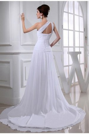 Princess Court Train Chiffon Appliques Sleeveless Wedding Dress - 2