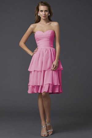Short Chiffon Sheath Sleeveless Zipper Up Bridesmaid Dress - 21