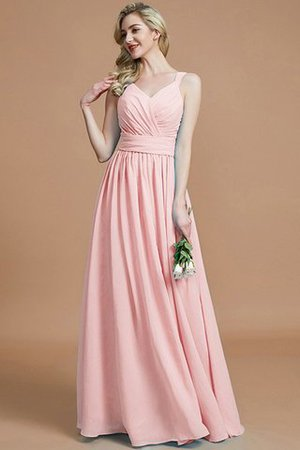 Sleeveless Natural Waist A-Line V-Neck Bridesmaid Dress - 27