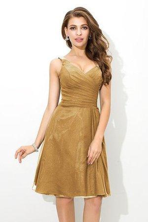 Chiffon Princess Sleeveless Natural Waist Draped Bridesmaid Dress - 12