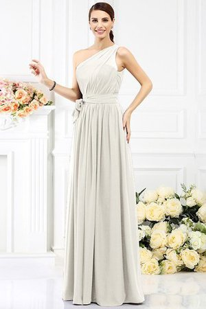 Long Sleeveless A-Line One Shoulder Bridesmaid Dress - 18