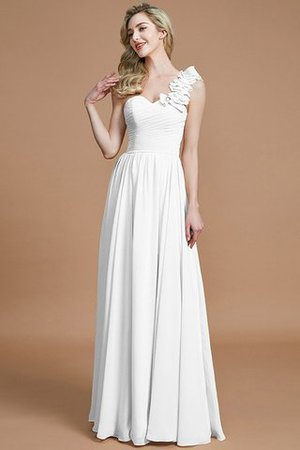 Sleeveless Natural Waist One Shoulder A-Line Chiffon Bridesmaid Dress - 33