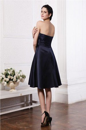 Zipper Up Princess Short Flowers Pleated Bridesmaid Dress - 30