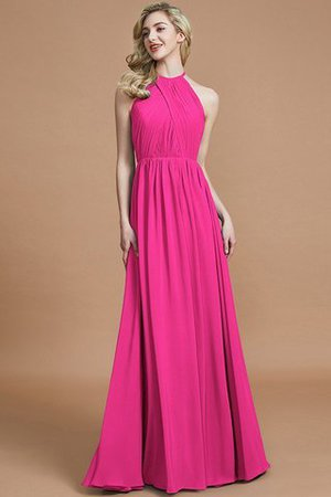 Sleeveless Floor Length A-Line Scoop Bridesmaid Dress - 16