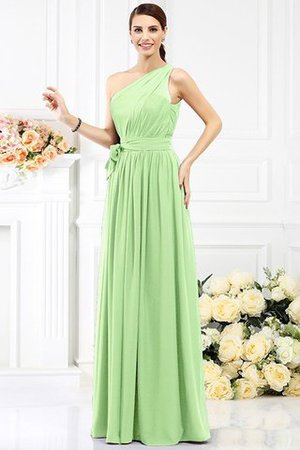 Long Sleeveless A-Line One Shoulder Bridesmaid Dress - 25