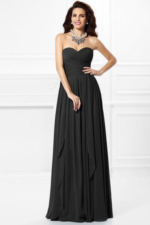 A-Line Zipper Up Long Floor Length Bridesmaid Dress - 2