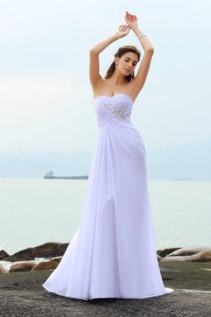 Chapel Train Beach Sweetheart Sheath Sleeveless Wedding Dress - 1