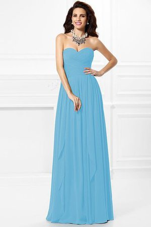 A-Line Zipper Up Long Floor Length Bridesmaid Dress - 3