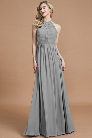 Sleeveless Floor Length A-Line Scoop Bridesmaid Dress - 32