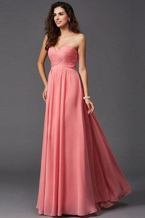 A-Line Sleeveless Chiffon Empire Waist Bridesmaid Dress - 27
