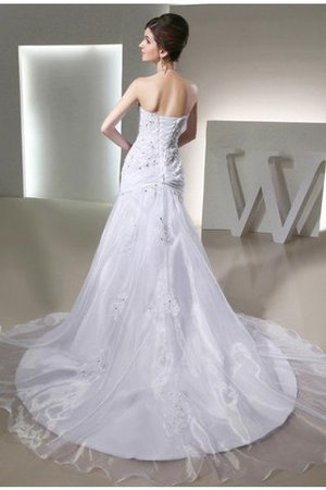 Mermaid Long Beading Strapless Appliques Wedding Dress - 2