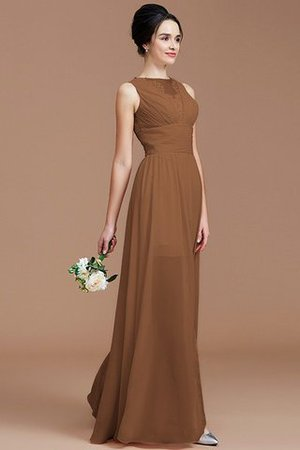 Ruched Zipper Up Natural Waist Jewel Sleeveless Bridesmaid Dress - 9