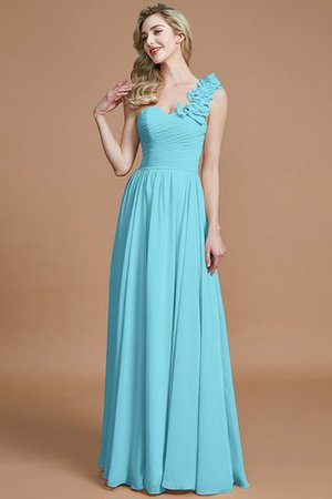Sleeveless Natural Waist One Shoulder A-Line Chiffon Bridesmaid Dress - 7