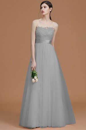 Tulle Zipper Up A-Line Appliques Bridesmaid Dress - 32