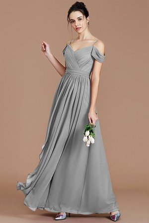 Chiffon Floor Length A-Line Ruched Bridesmaid Dress - 33