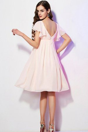 Ruffles Knee Length Short Sleeves Sweetheart Bridesmaid Dress - 30