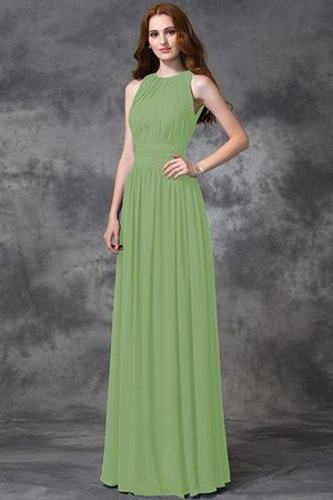 Sleeveless Ruched Natural Waist Chiffon Long Bridesmaid Dress - 26