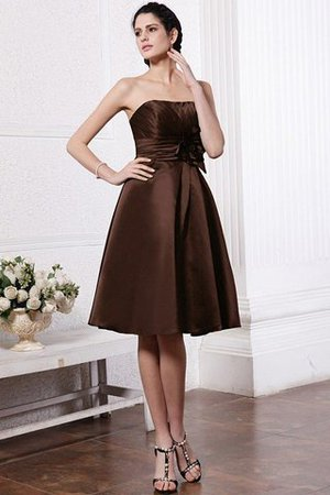 Zipper Up Princess Short Flowers Pleated Bridesmaid Dress - 8