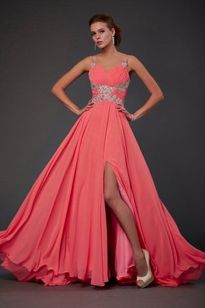 Lace Natural Waist Chiffon Backless Short Prom Dress - 1