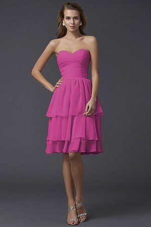 Short Chiffon Sheath Sleeveless Zipper Up Bridesmaid Dress - 10