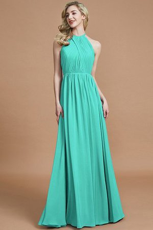 Sleeveless Floor Length A-Line Scoop Bridesmaid Dress - 20