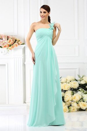 Princess Sleeveless Pleated Zipper Up Long Bridesmaid Dress - 1