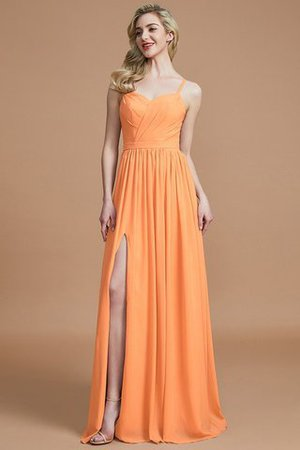 Natural Waist Sleeveless Floor Length Princess Chiffon Bridesmaid Dress - 24