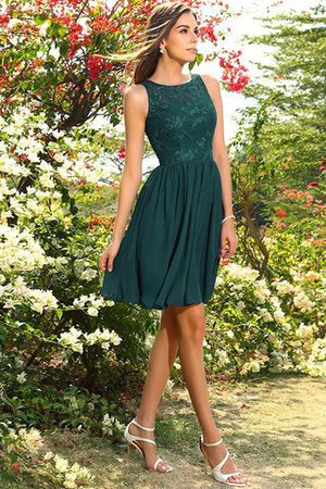 A-Line Natural Waist Sleeveless Chiffon Short Bridesmaid Dress - 9