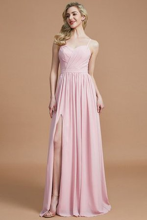 Natural Waist Sleeveless Floor Length Princess Chiffon Bridesmaid Dress - 28