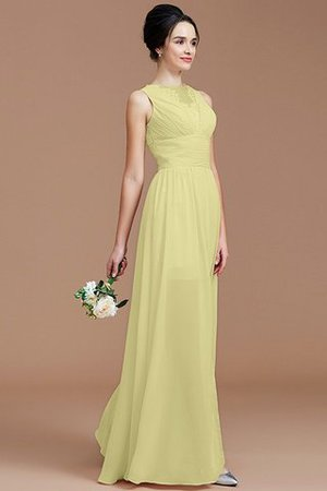 Ruched Zipper Up Natural Waist Jewel Sleeveless Bridesmaid Dress - 13