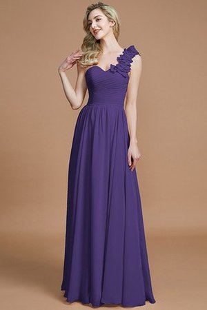 Sleeveless Natural Waist One Shoulder A-Line Chiffon Bridesmaid Dress - 29