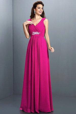 A-Line Chiffon Long Sleeveless Bridesmaid Dress - 11