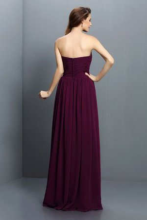 Strapless A-Line Pleated Zipper Up Bridesmaid Dress - 30