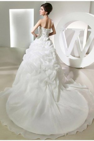 Sleeveless Long Ball Gown Chapel Train Empire Waist Wedding Dress - 2