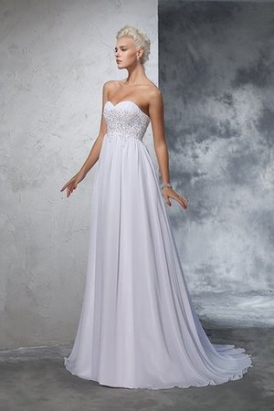 Sweetheart Empire Waist Chiffon Sleeveless Long Wedding Dress - 4