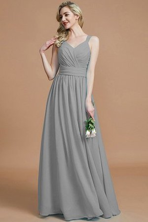 Sleeveless Natural Waist A-Line V-Neck Bridesmaid Dress - 33