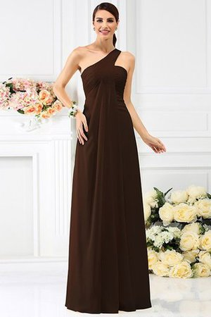 Zipper Up Long Floor Length A-Line Bridesmaid Dress - 7