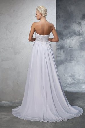 Sweetheart Empire Waist Chiffon Sleeveless Long Wedding Dress - 2