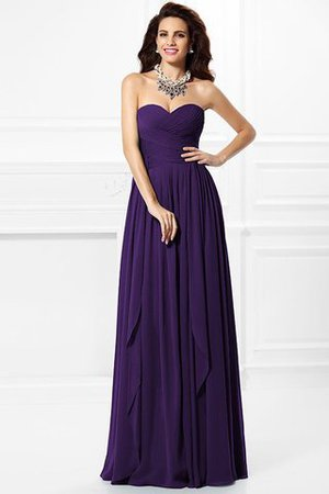A-Line Zipper Up Long Floor Length Bridesmaid Dress - 11