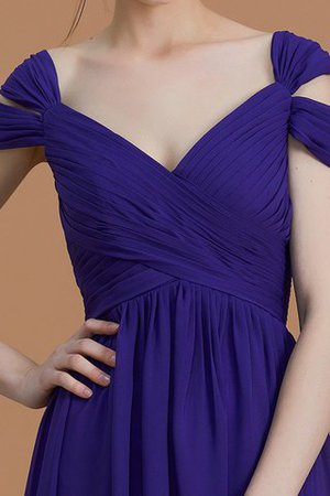 Natural Waist A-Line Ruched Floor Length Bridesmaid Dress - 6