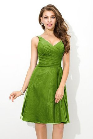 Chiffon Princess Sleeveless Natural Waist Draped Bridesmaid Dress - 14