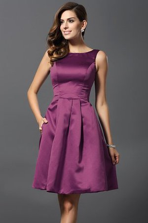 A-Line Knee Length Natural Waist Bridesmaid Dress - 5