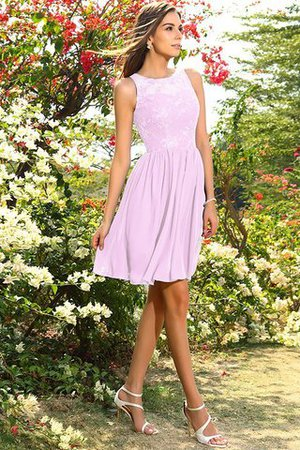 A-Line Natural Waist Sleeveless Chiffon Short Bridesmaid Dress - 22