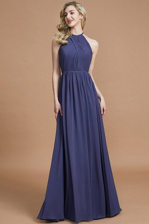 Sleeveless Floor Length A-Line Scoop Bridesmaid Dress - 1